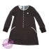 Bruine stippen jurk maat 122