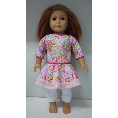 Gebloemde jurk + legging