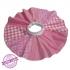 Handgemaakte cirkelrok maat 110 roze