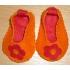 Oranje met rood schoentjes