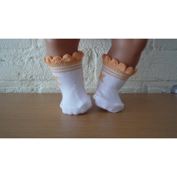 Oranje sokjes met ster