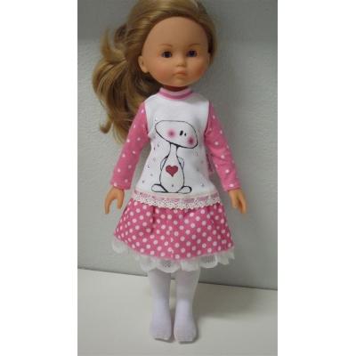 Roze jurk + maillot