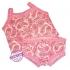 Roze wit ondergoed