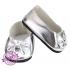 Schoentjes met strik zilver
