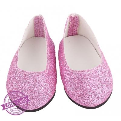 Glitter ballerina`s roze