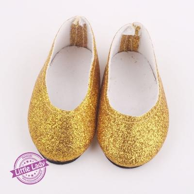 Glitter ballerina`s goud