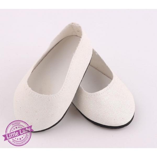Witte glitter ballerina`s