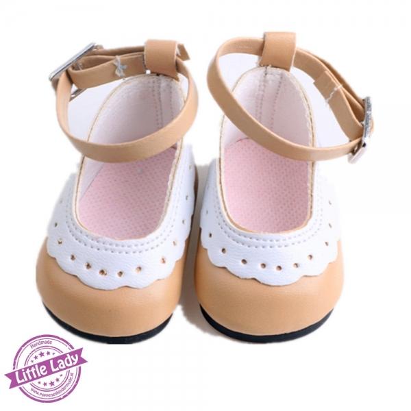 Licht bruine schoenen met bandje