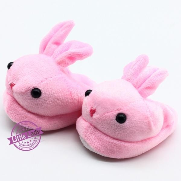 Roze konijnen sloffen
