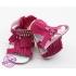 Fuchsia sandalen