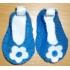 Blauw met wit schoentjes